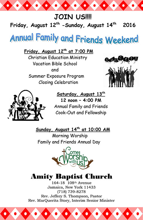 Amity Baptist Church Annual Cookout 2016
