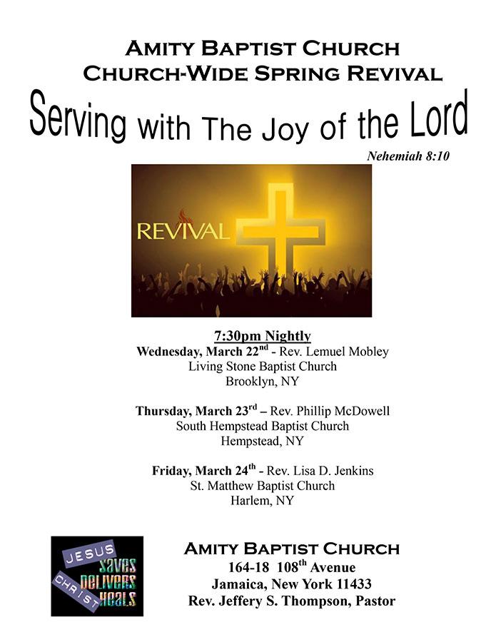 2017 Spring Revival - amity baptist church nyc