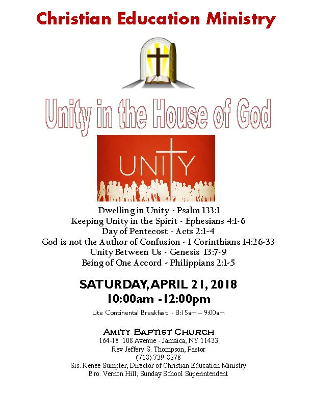 Unity in the House of God