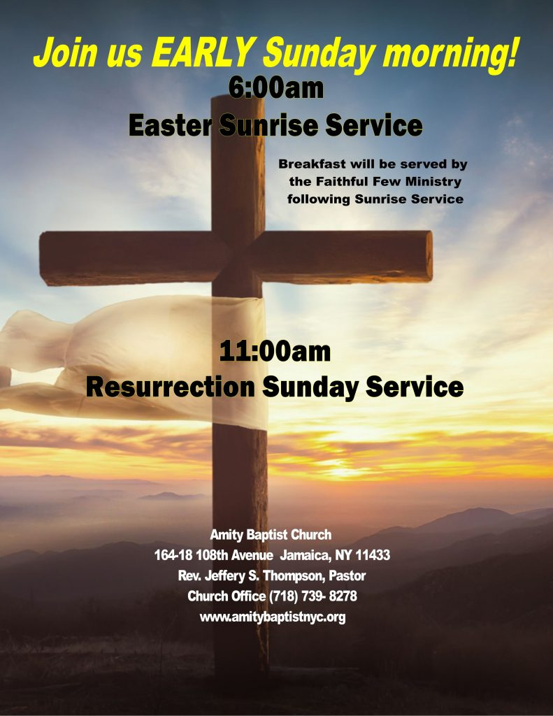 Come worship with us on Easter Sunday at 6:00am